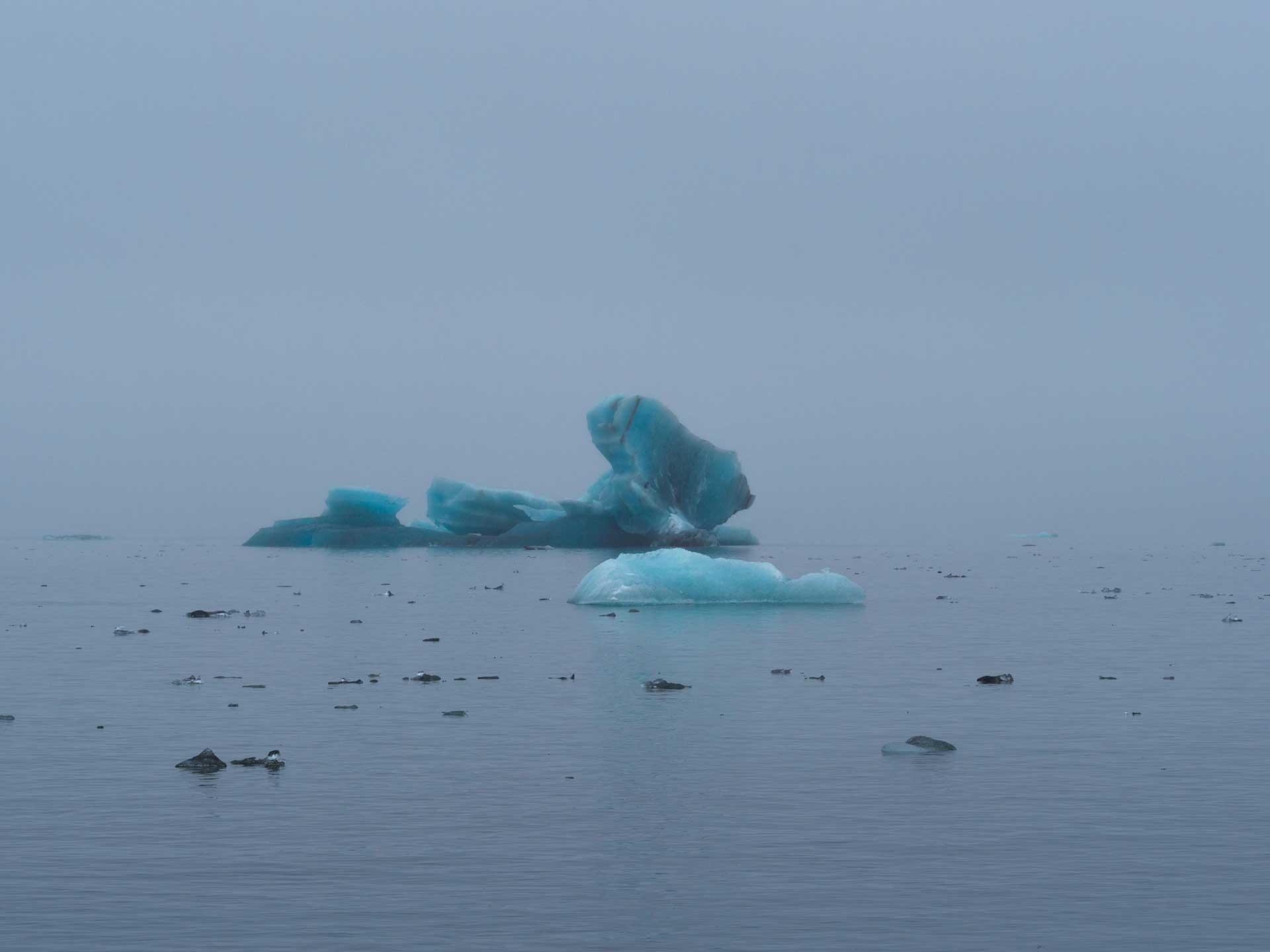 Les restes d'un glacier